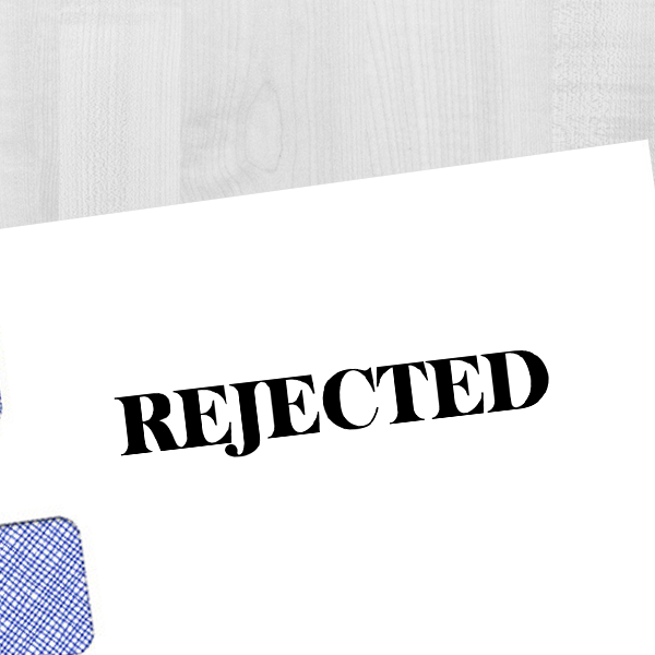 Rejected Banker Stamp Imprint Example