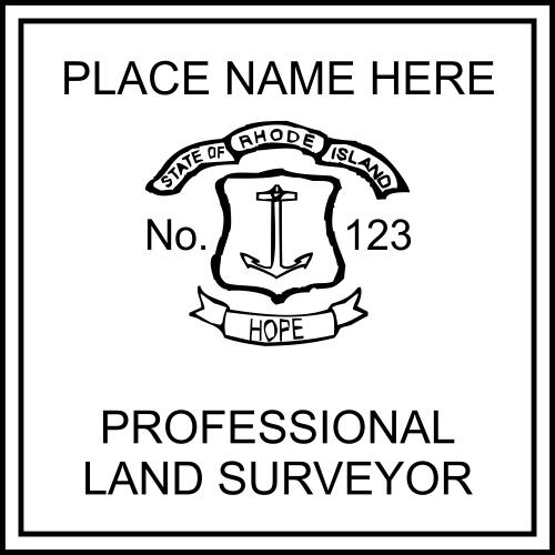 Rhode Island Land Surveyor Embossed Seal