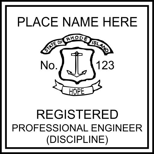 Rhode Island Engineer Seal Embosser