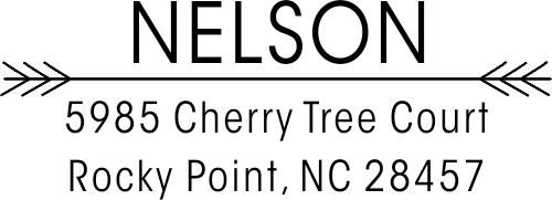 Nelson Double Arrow Custom Address Stamper