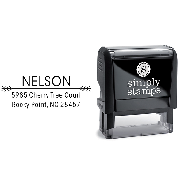 Nelson Double Arrow Address Stamp Body and Imprint