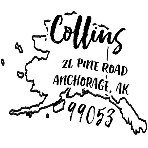 Custom Alaska Address Stamp