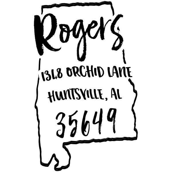 Custom Alabama Address Stamp