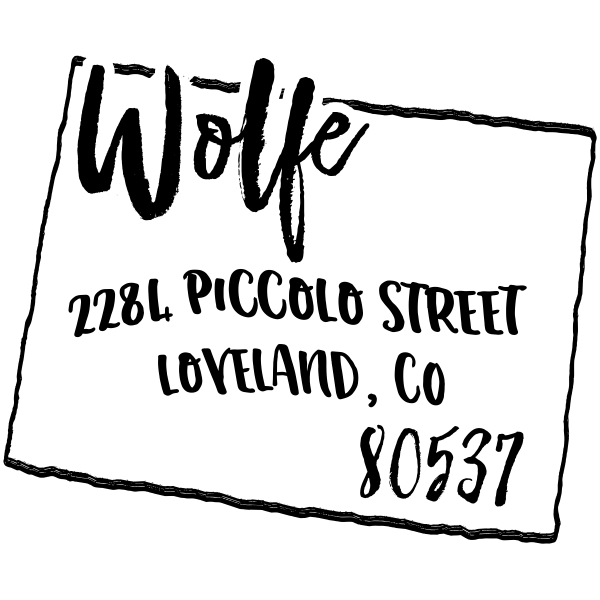 Custom Colorado Address Stamp