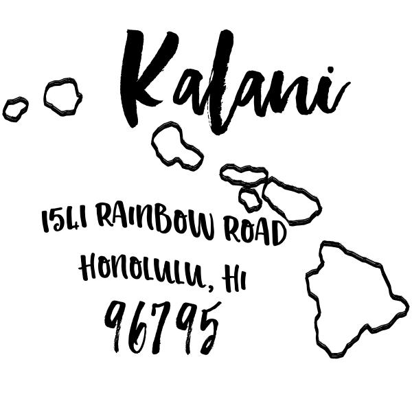 Custom Hawaii Address Stamp
