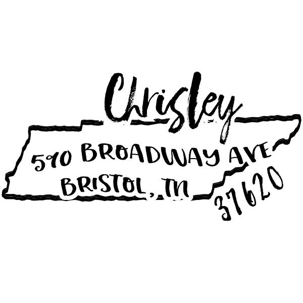 Custom Tennessee Address Stamp