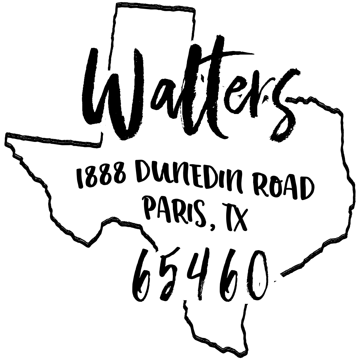 Custom Texas Address Stamp