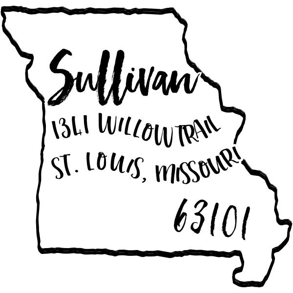 Custom Missouri Address Stamp