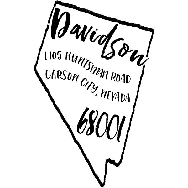 Custom Nevada Address Stamp