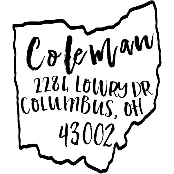 Custom Ohio Address Stamp