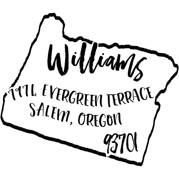 Custom Oregon Address Stamp