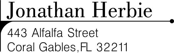 Herbie Address Stamp
