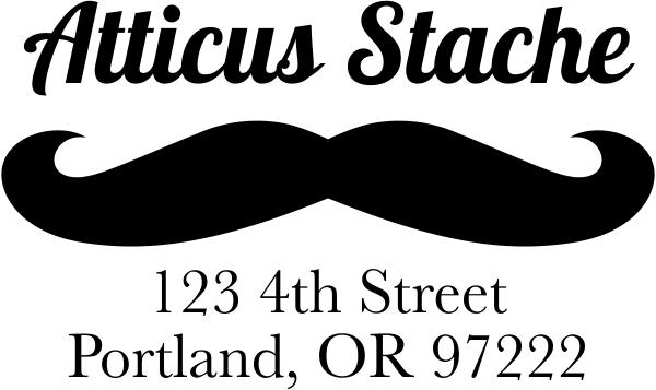 Stache Address Stamp