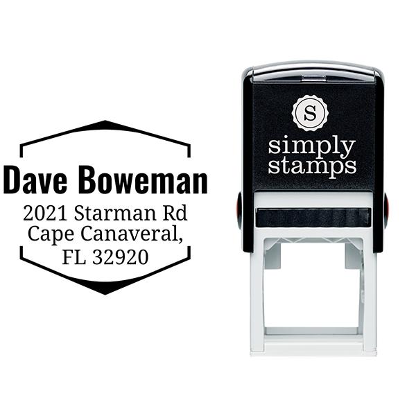 Boweman Address Stamp Imprint Example