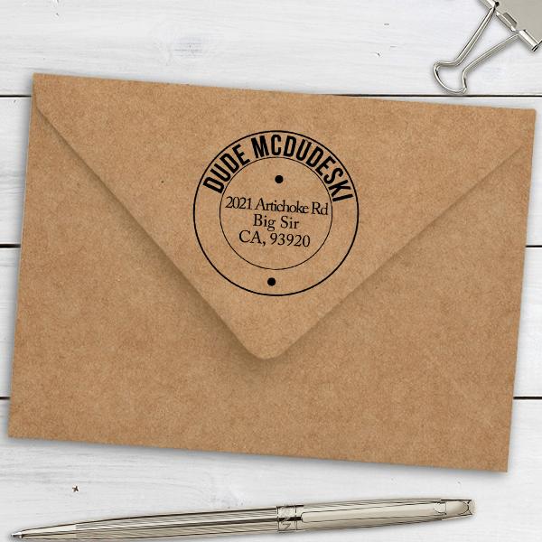 McDudeski Address Stamp Imprint Example