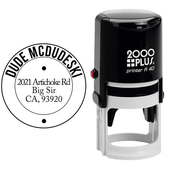 McDudeski Address Stamp Body and Design