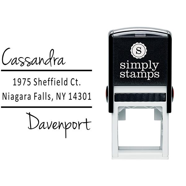 Davenport Offset Address Stamp Body and Imprint