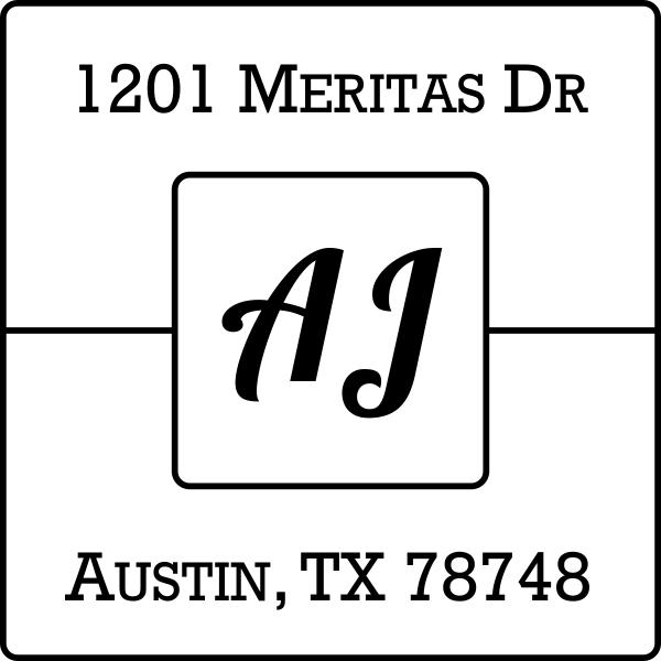 AJ Address Stamp