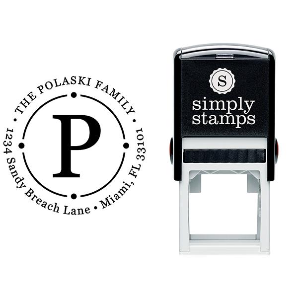 Polaski Orbit Return Address Stamp Body and Imprint