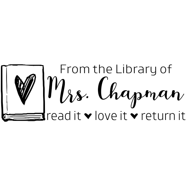 Teacher Library Stamp