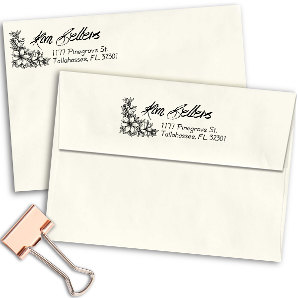 Sellers Return Address Stamp Imprint Example