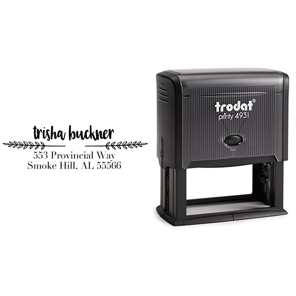 Buckner Return Address Stamp Body and Design