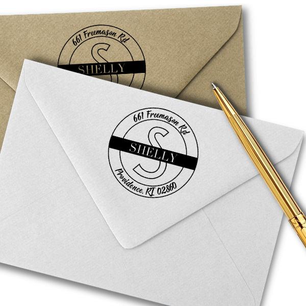 Shelly Return Address Stamp Imprint Example