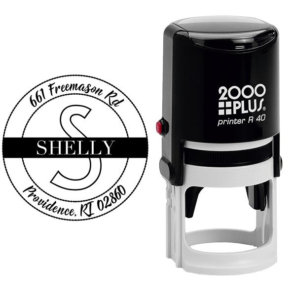 Shelly Return Address Stamp Body and Design