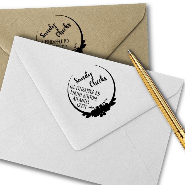 Cheeks Return Address Stamp Imprint Example