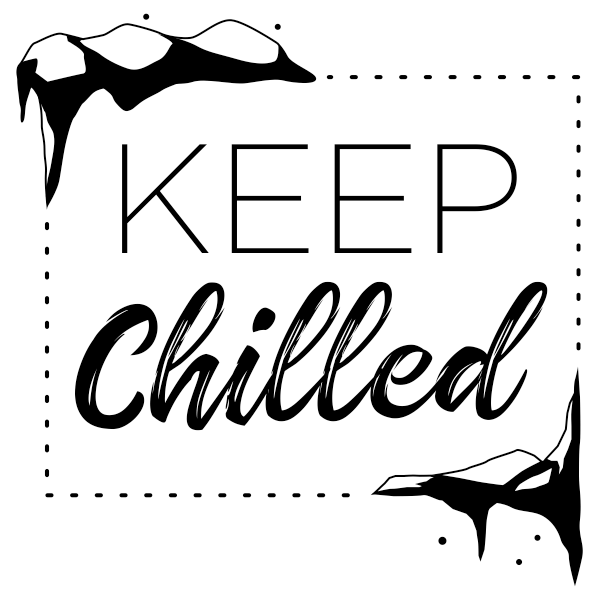 Keep Food Chilled Packaging Stamp Imprint Example