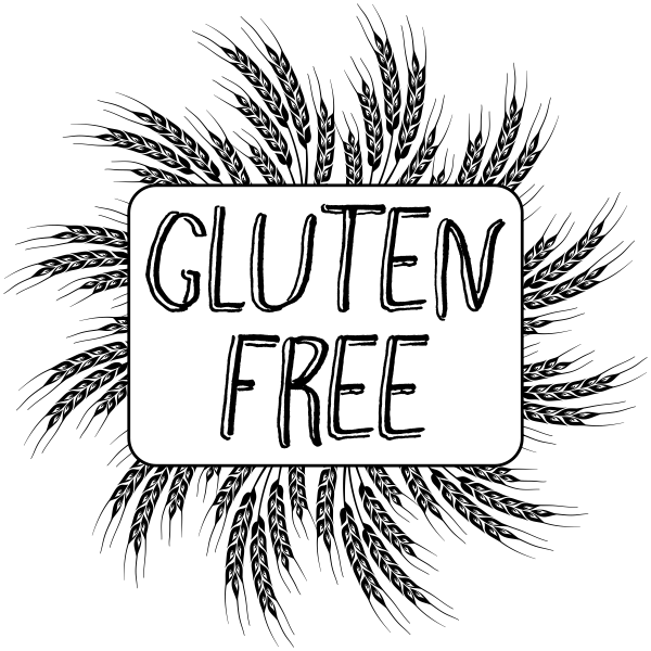 Gluten Free Food Packaging Stamp  Imprint Example