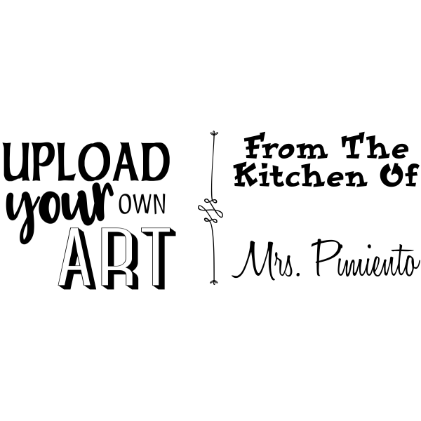 Pimiento Rectangular Custom Logo Kitchen Stamp