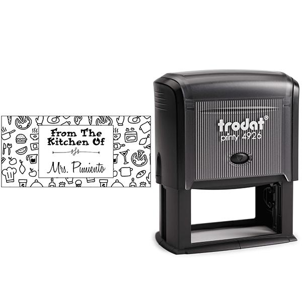 Pimiento Rectangular Pattern Kitchen Stamp Body and Design
