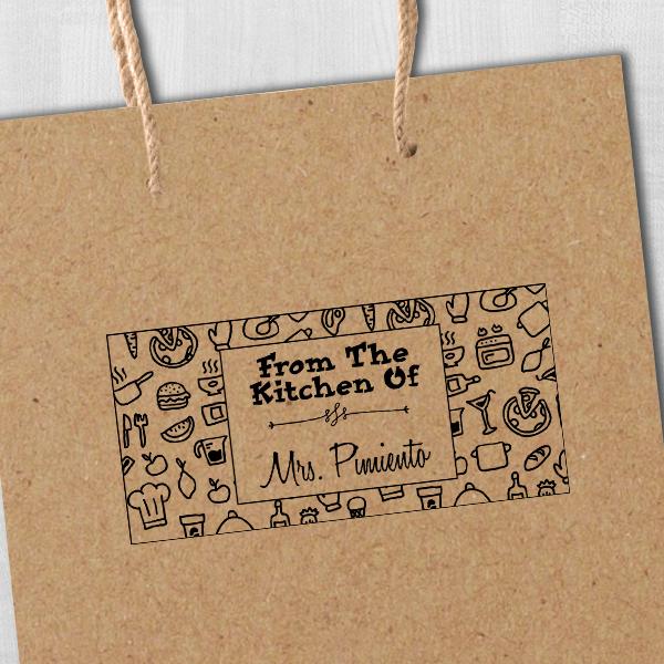 Pimiento Rectangular Pattern Kitchen Stamp Imprint Example