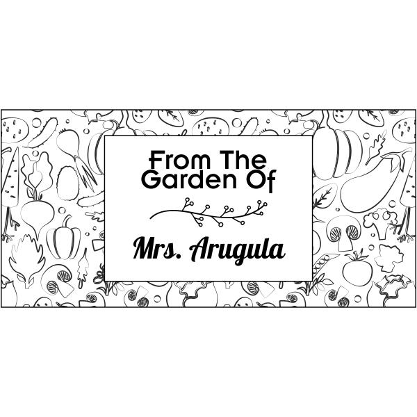 Arugula Rectangular Pattern Garden Stamp