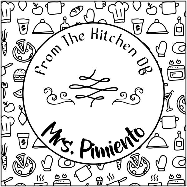 Pimiento Round Pattern Kitchen Stamp
