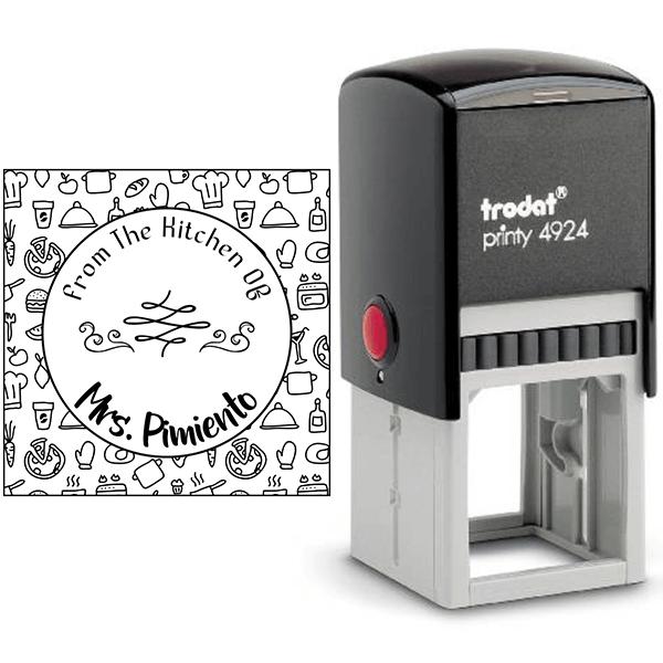 Pimiento Round Pattern Kitchen Stamp Body and Design