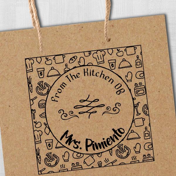 Pimiento Round Pattern Kitchen Stamp Imprint Example