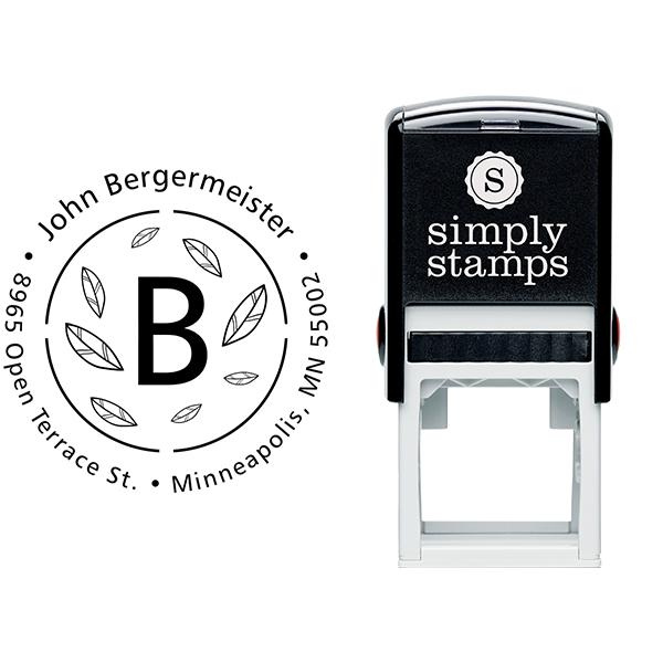 Bergermeister Leaves Return Address Stamp Body and Imprint
