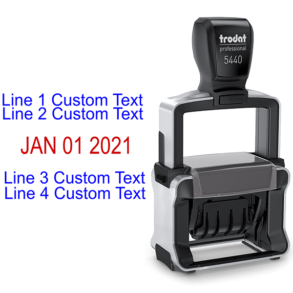 Trodat Professional 5440 Dater Stamp Body and Design