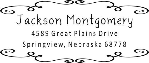 Montgomery Curly Deco Border Address Stamp