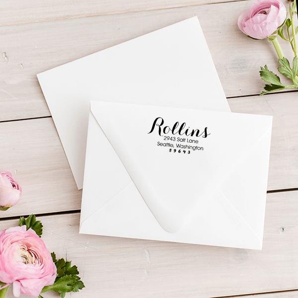 Rollins Return Address Stamp Imprint Example
