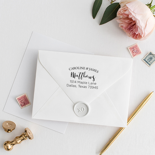 Caroline Address Stamp Imprint Example