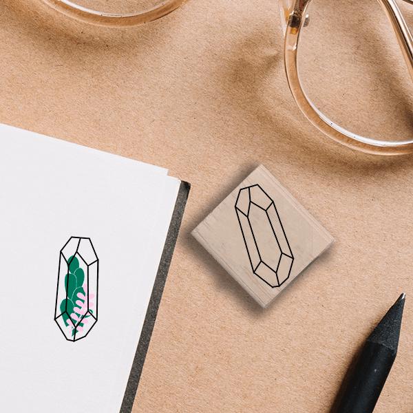 Jewel Terrarium Stamp Lifestyle Photo and Imprint Example