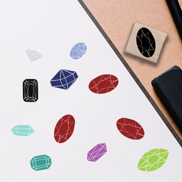 Garnet Jeweled Stamp Lifestyle Photo and Imprint Example