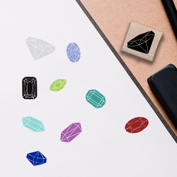 Diamond Jeweled Stamp Lifestyle Photo and Imprint Example