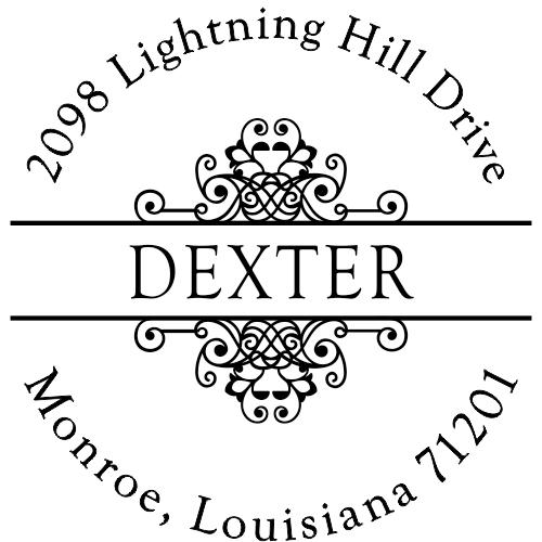 Dexter Vintage Deco Custom Address Stamper