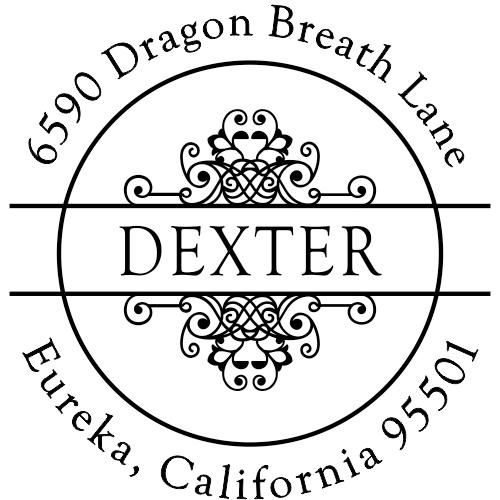 Dexter Vintage Deco Return Address Stamper
