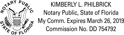 Florida Notary Public with Great Seal