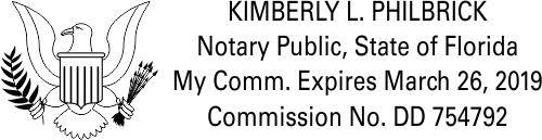 Florida Notary Public with US Eagle